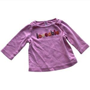 🧚♀4/$25 GYMBOREE 3-6M Girls Long-sleeved Shirt